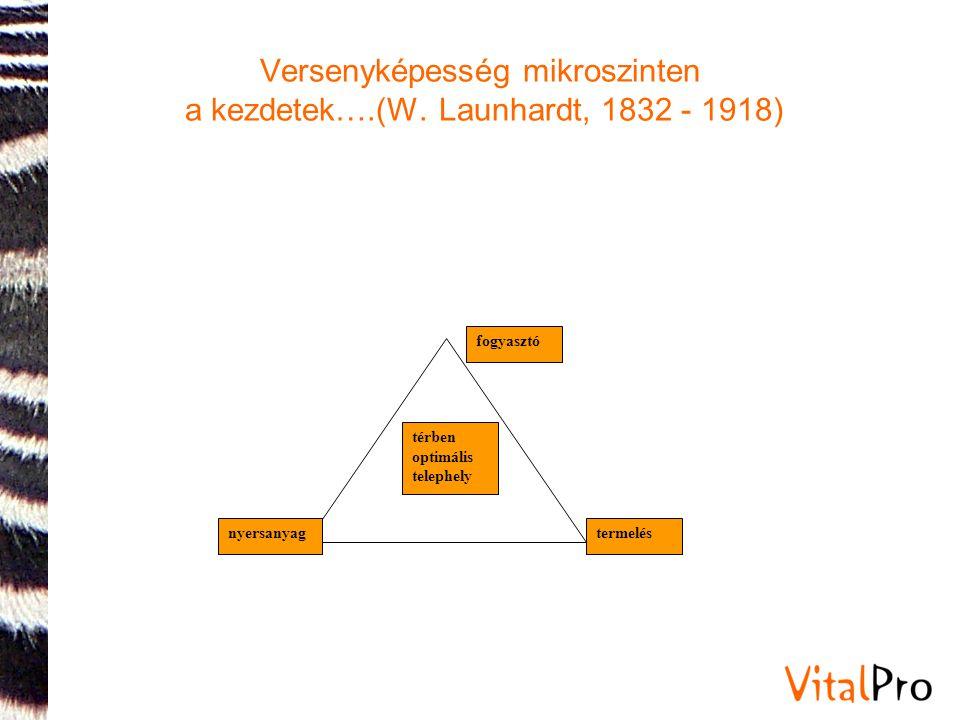 Versenyképesség mikroszinten a kezdetek….(W. Launhardt, 1832 - 1918)