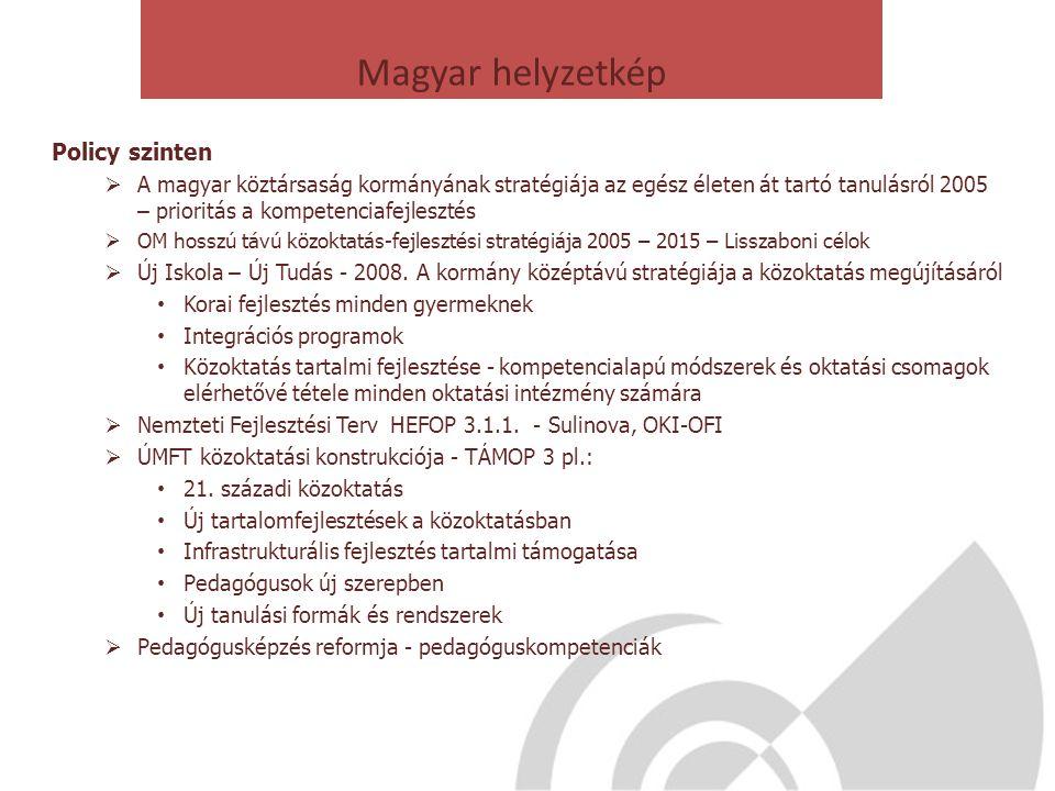 Magyar helyzetkép Policy szinten