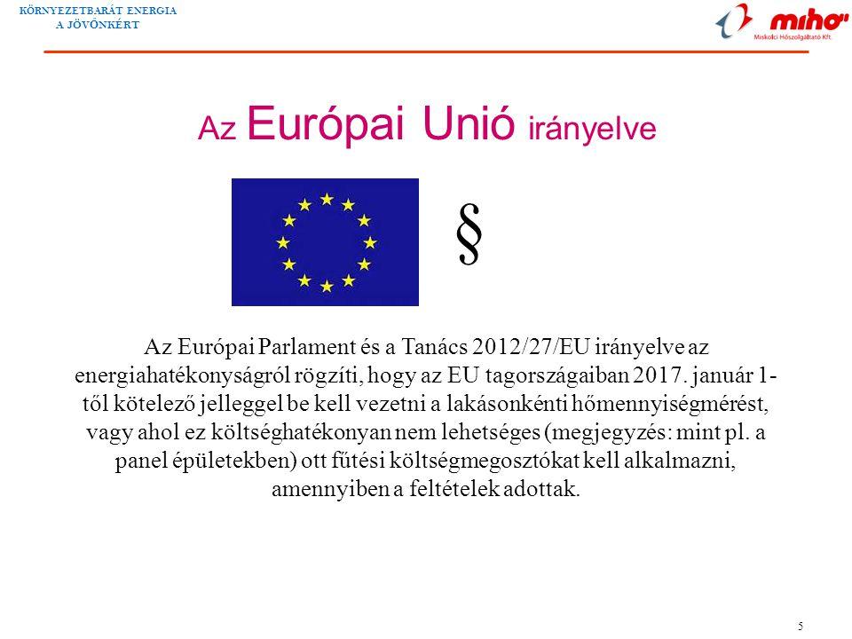 Az Európai Unió irányelve