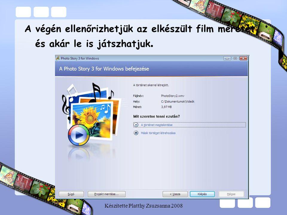 Készítette Platthy Zsuzsanna 2008