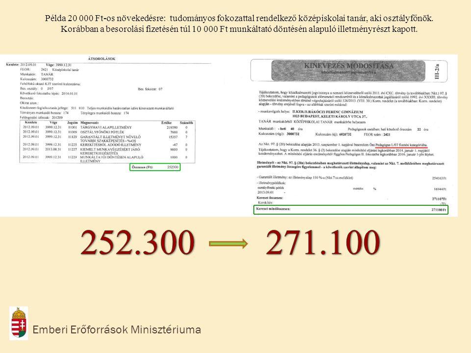 252.300 271.100 Emberi Erőforrások Minisztériuma