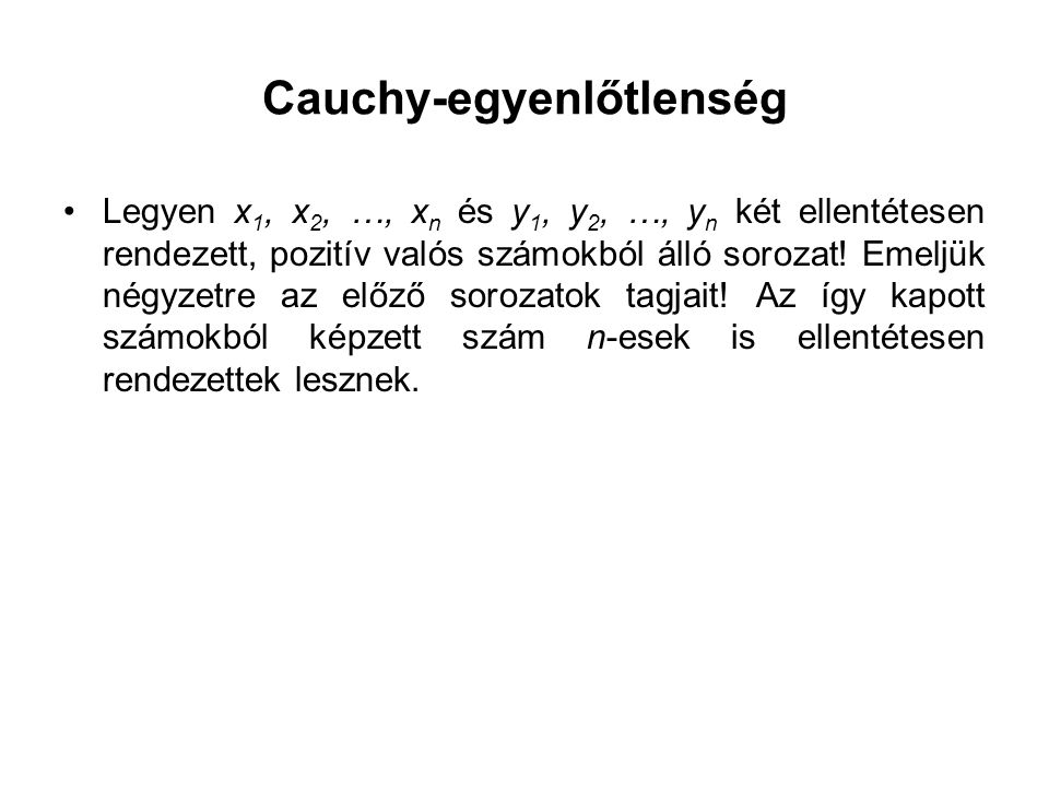 Cauchy-egyenlőtlenség