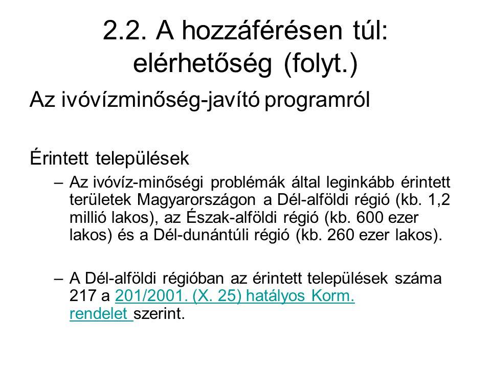 2.2. A hozzáférésen túl: elérhetőség (folyt.)