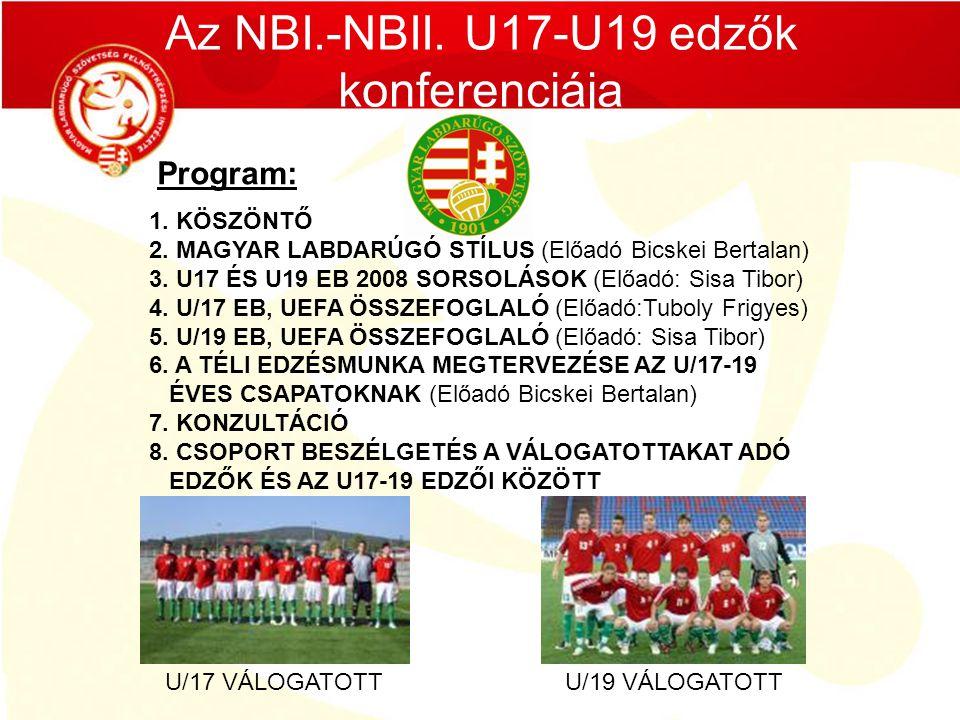 Az NBI.-NBII. U17-U19 edzők konferenciája
