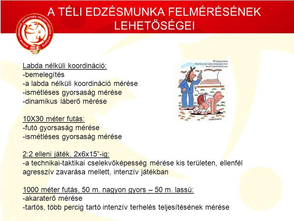 A TÉLI EDZÉSMUNKA FELMÉRÉSÉNEK LEHETŐSÉGEI