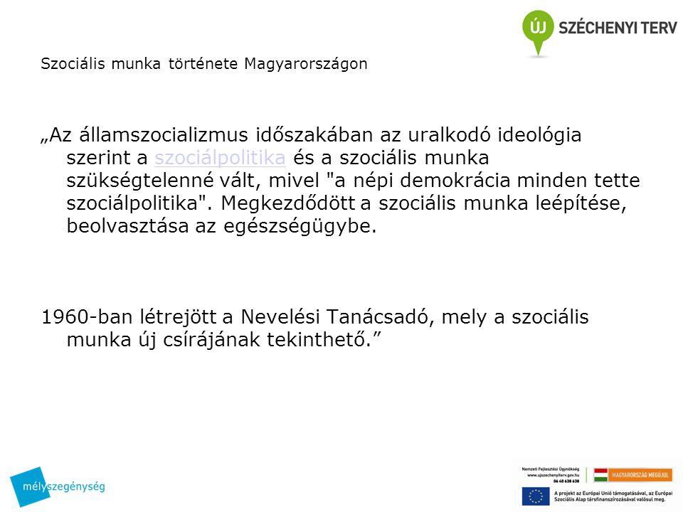Szociális munka története Magyarországon