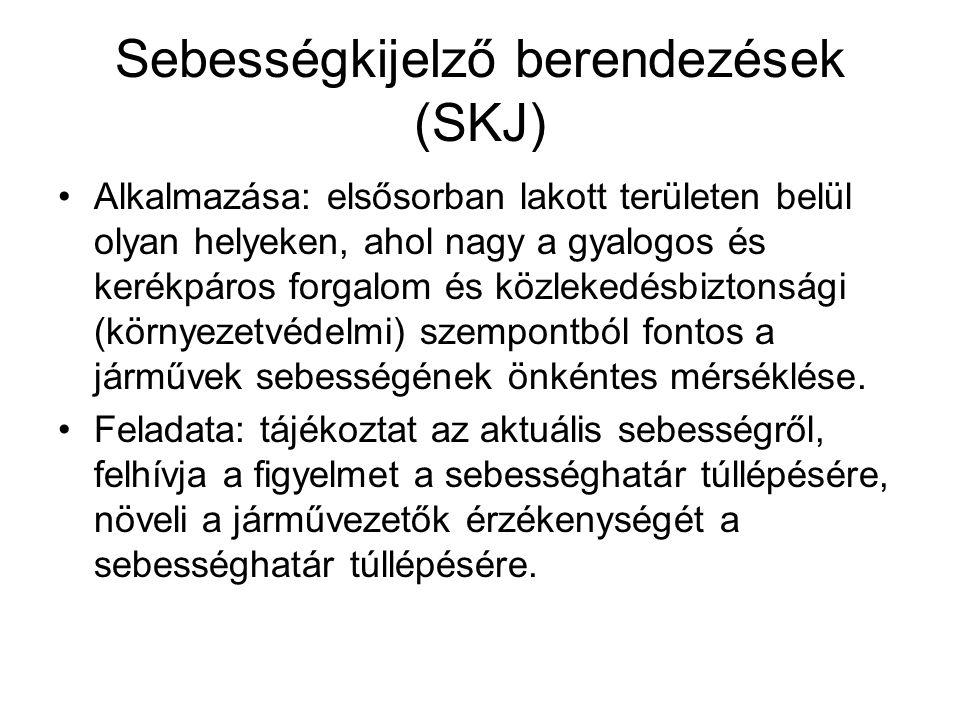 Sebességkijelző berendezések (SKJ)