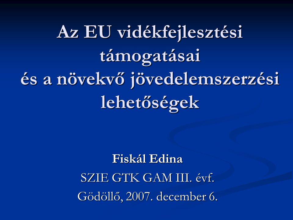 Fiskál Edina SZIE GTK GAM III. évf. Gödöllő, 2007. december 6.