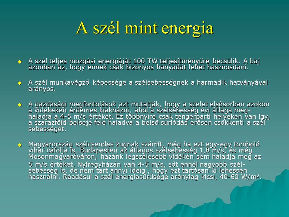 A szél mint energia