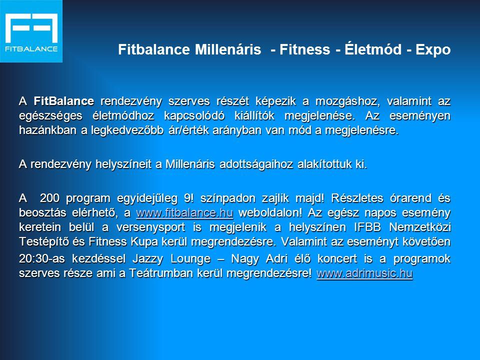 Fitbalance Millenáris - Fitness - Életmód - Expo