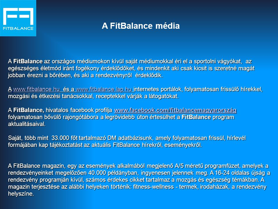 A FitBalance média