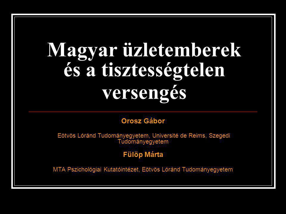 Magyar üzletemberek és a tisztességtelen versengés