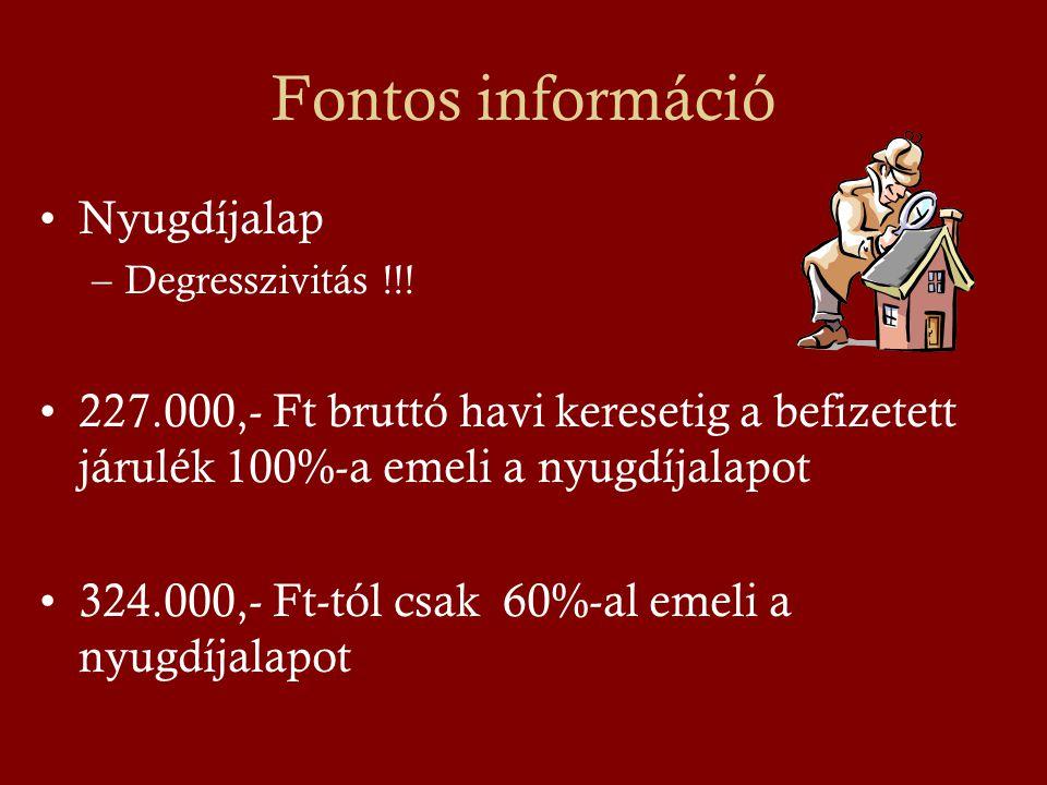 Fontos információ Nyugdíjalap
