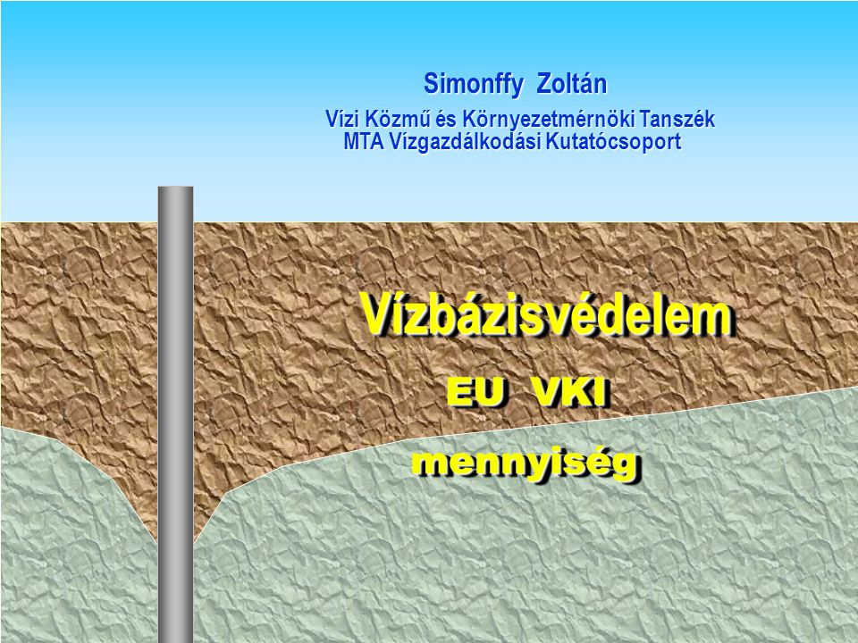Vízbázisvédelem EU VKI mennyiség Simonffy Zoltán
