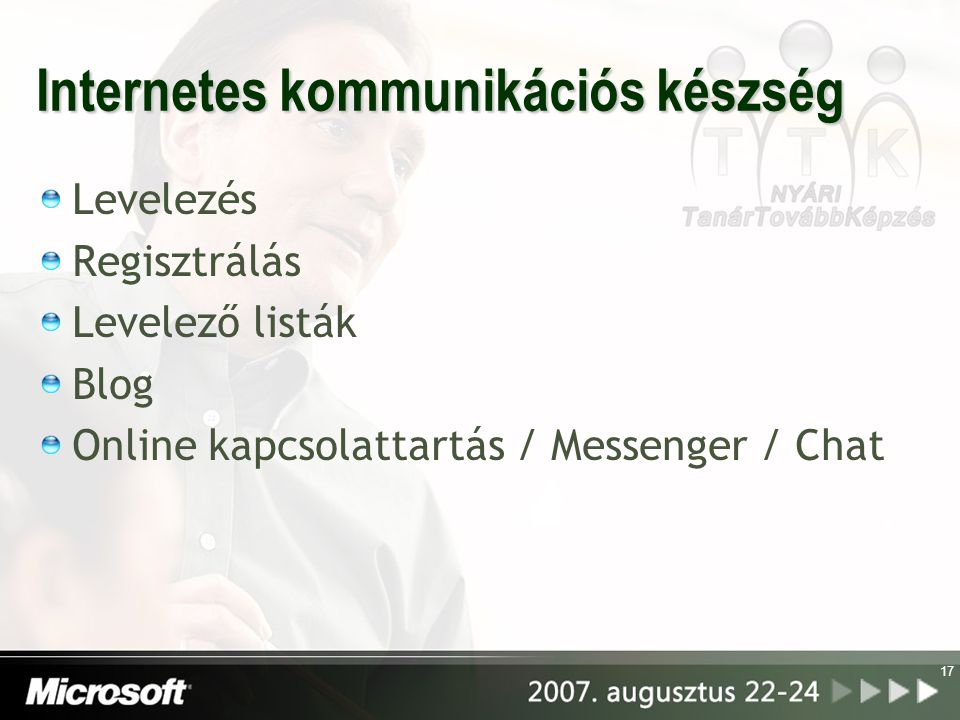 Internetes kommunikációs készség