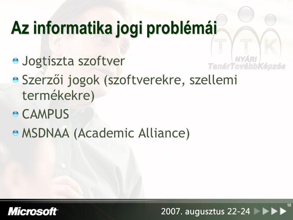 Az informatika jogi problémái