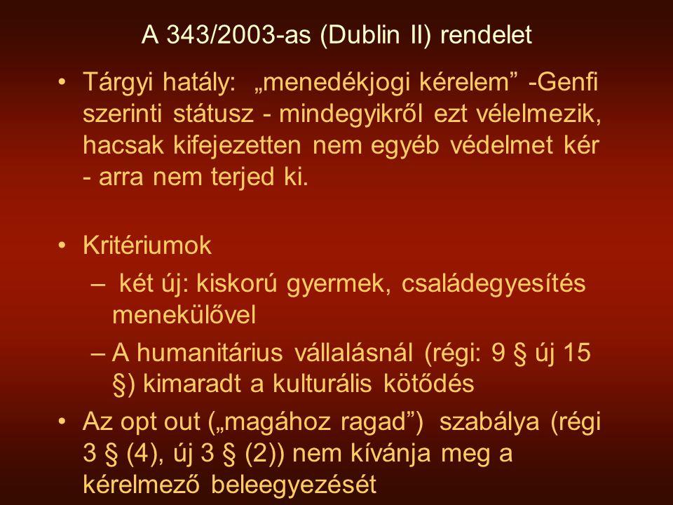 A 343/2003-as (Dublin II) rendelet