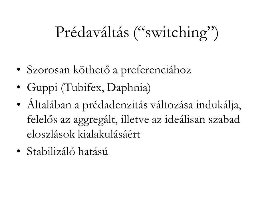 Prédaváltás ( switching )