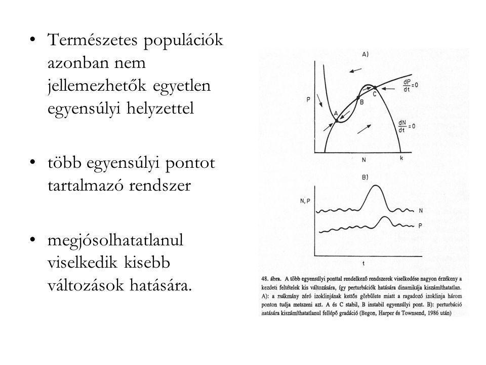 Természetes populációk azonban nem jellemezhetők egyetlen egyensúlyi helyzettel