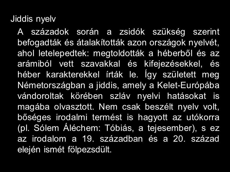 Jiddis nyelv