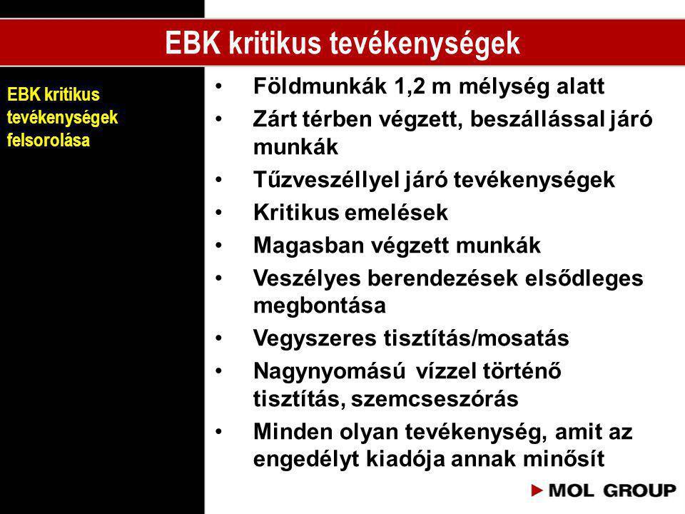 EBK kritikus tevékenységek