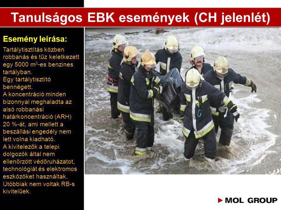 Tanulságos EBK események (CH jelenlét)