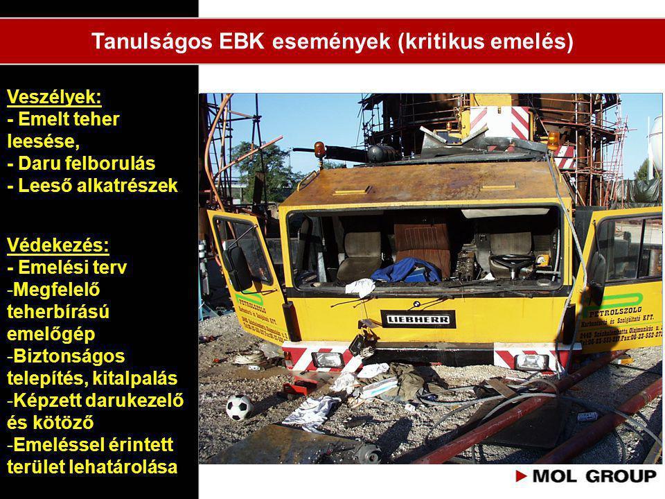Tanulságos EBK események (kritikus emelés)