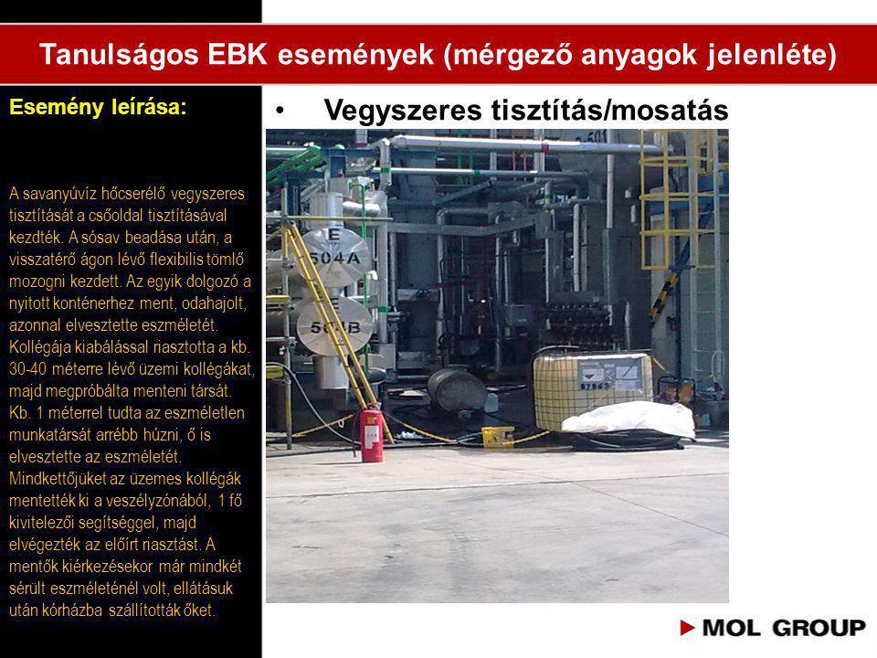 Tanulságos EBK események (mérgező anyagok jelenléte)