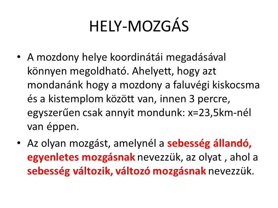 HELY-MOZGÁS