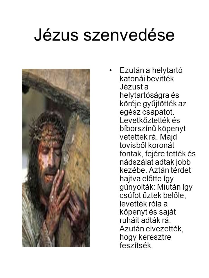 Jézus szenvedése