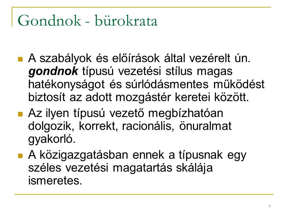 Gondnok - bürokrata