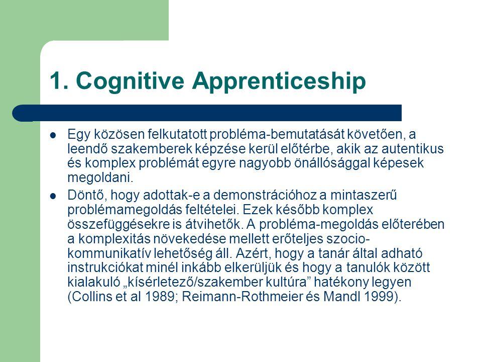 1. Cognitive Apprenticeship