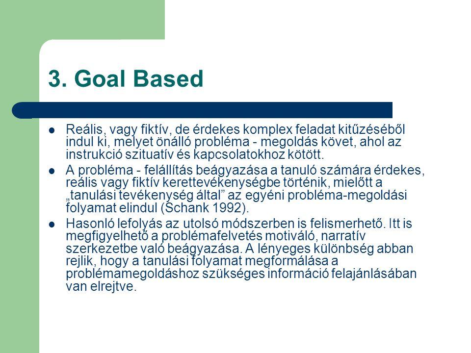 3. Goal Based