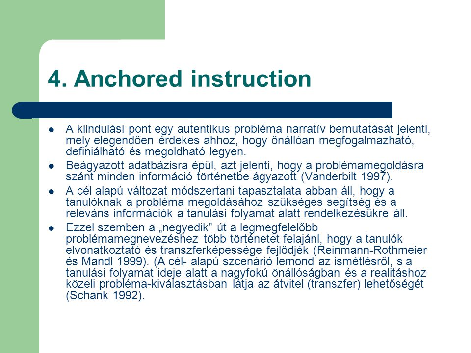 4. Anchored instruction