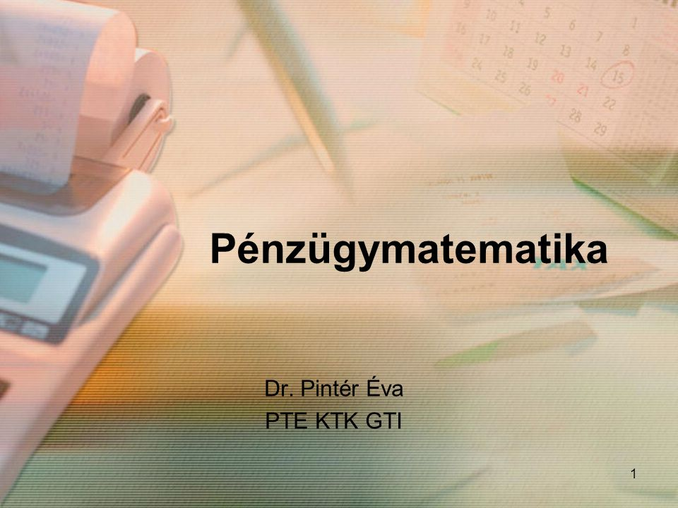 Dr. Pintér Éva PTE KTK GTI