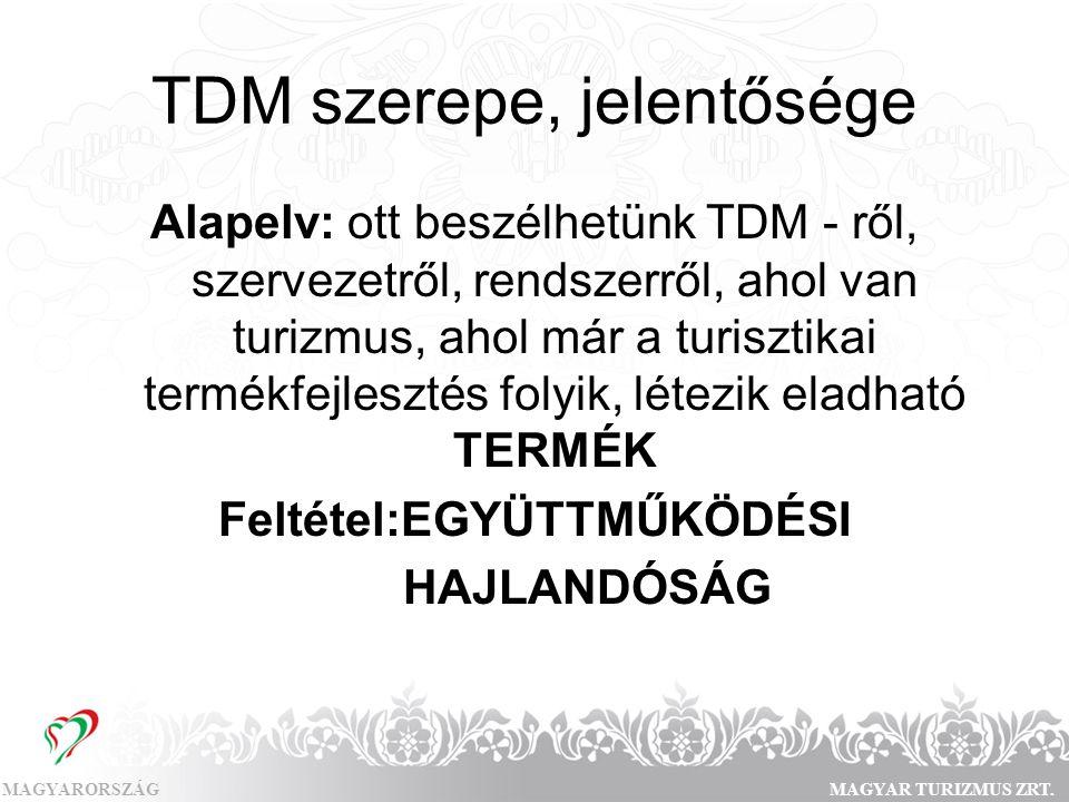 TDM szerepe, jelentősége