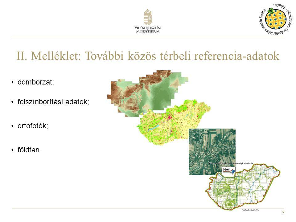 II. Melléklet: További közös térbeli referencia-adatok