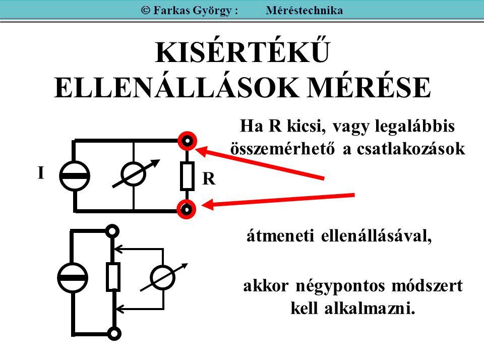 KISÉRTÉKŰ ELLENÁLLÁSOK MÉRÉSE