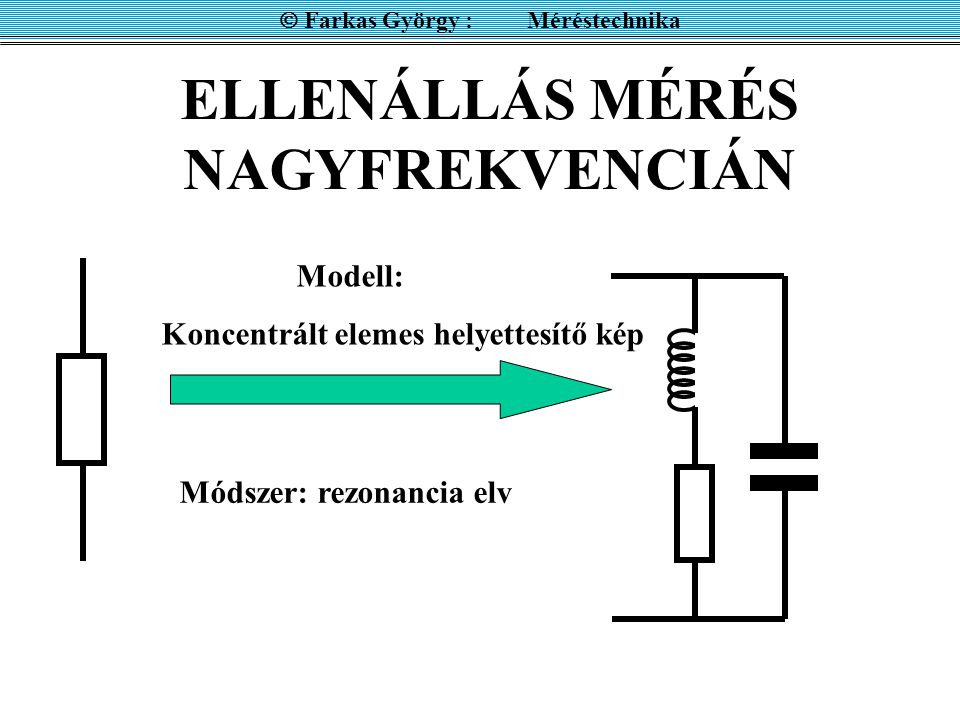 ELLENÁLLÁS MÉRÉS NAGYFREKVENCIÁN