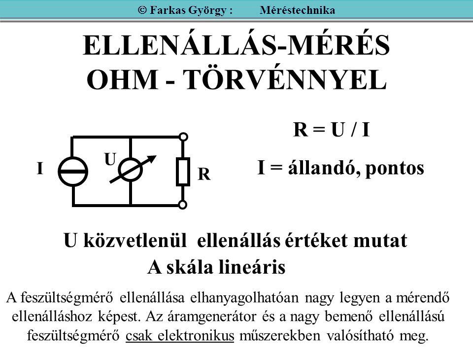 ELLENÁLLÁS-MÉRÉS OHM - TÖRVÉNNYEL