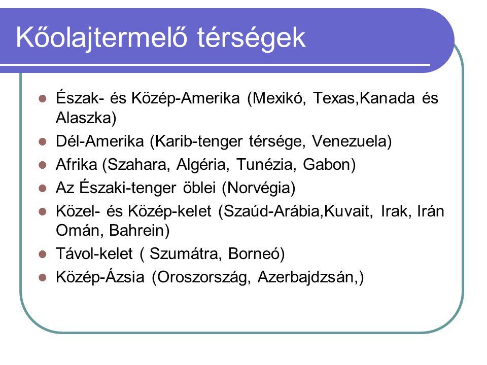 Kőolajtermelő térségek