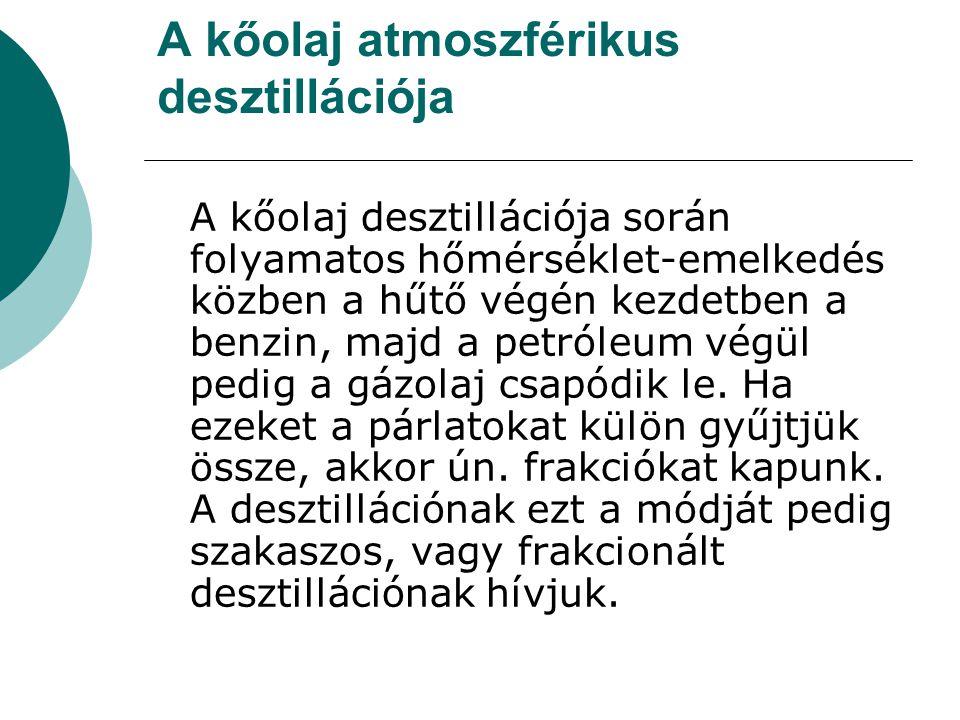 A kőolaj atmoszférikus desztillációja