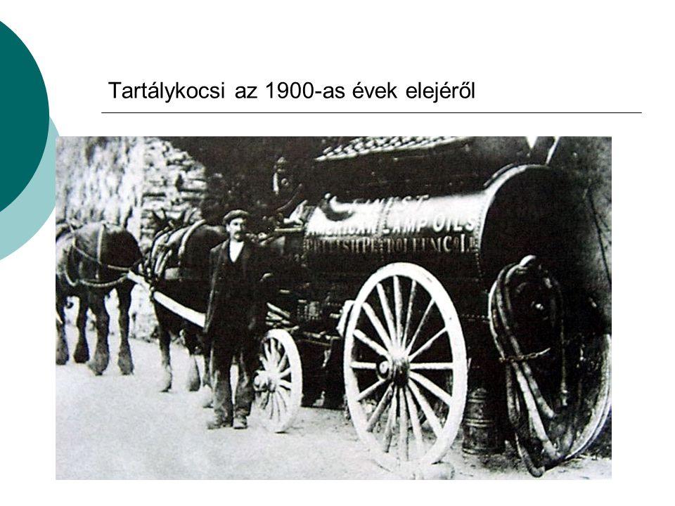 Tartálykocsi az 1900-as évek elejéről