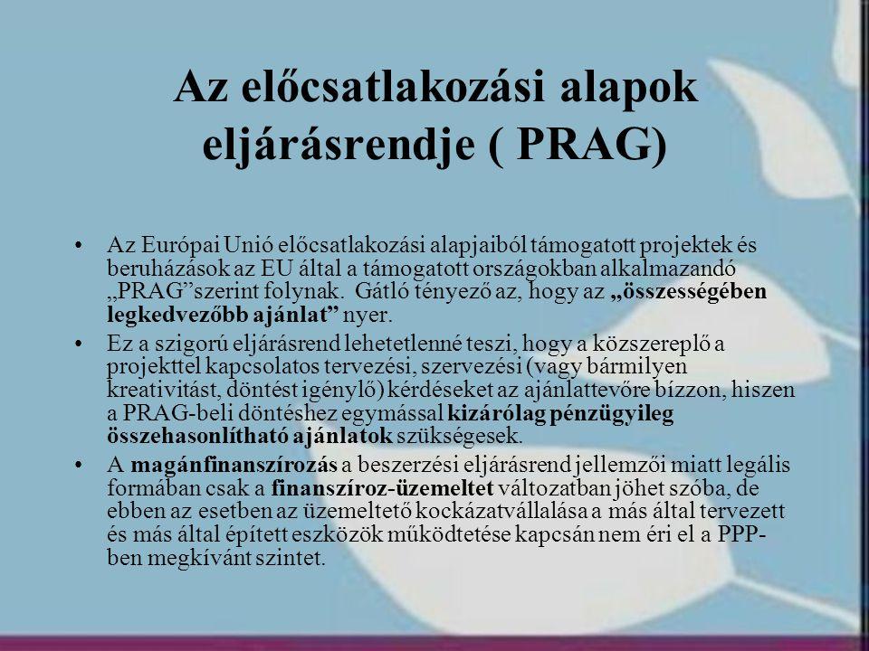 Az előcsatlakozási alapok eljárásrendje ( PRAG)