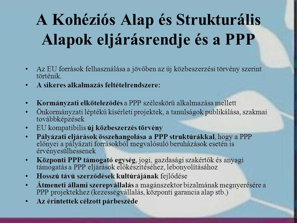 A Kohéziós Alap és Strukturális Alapok eljárásrendje és a PPP