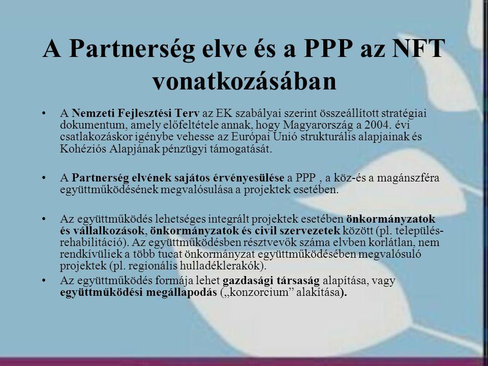 A Partnerség elve és a PPP az NFT vonatkozásában
