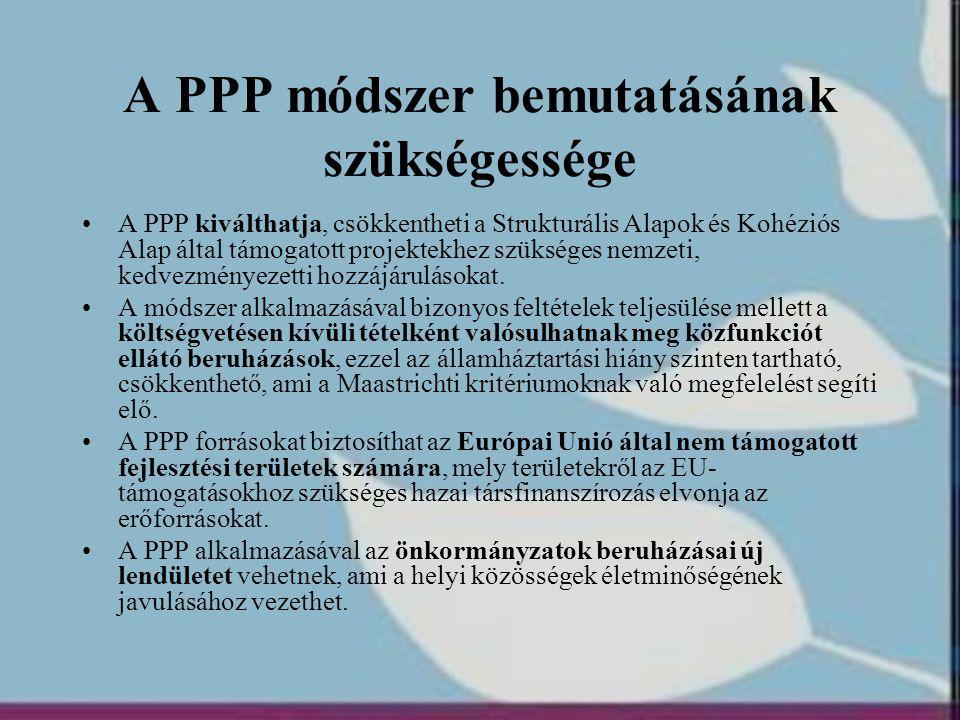 A PPP módszer bemutatásának szükségessége