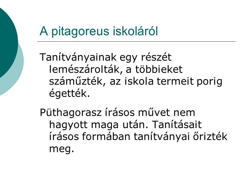 A pitagoreus iskoláról
