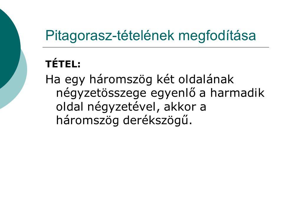 Pitagorasz-tételének megfodítása