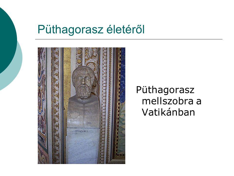 Püthagorasz életéről Püthagorasz mellszobra a Vatikánban